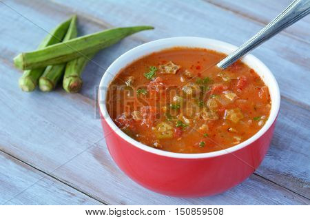 Traditional North African Okra Soup