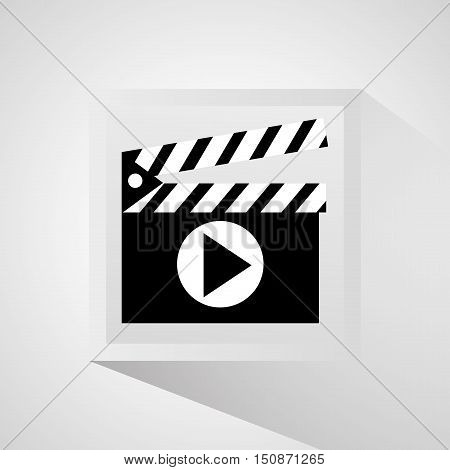 Clapboard icon. Cinema movie video and film theme. Isolated design. Vector illustration