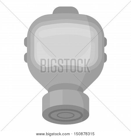 Fire gas mask icon monochrome style. Single silhouette fire equipment icon from the big fire Department monochrome.