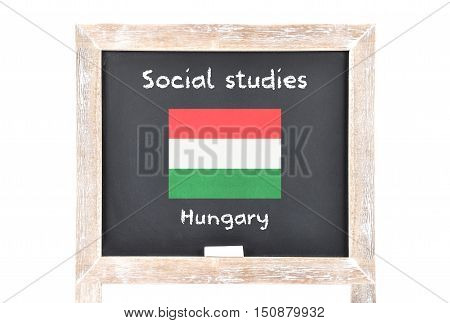 Social Studies With Flag On Board