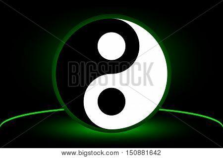 Yin yang symbol , yin and yang ,Yin Yang vector illustration