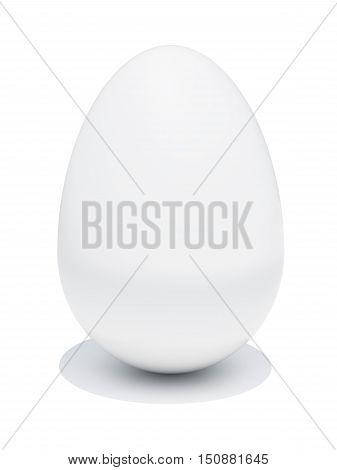 Egg isolated on white background. 3D illustration