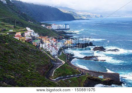 Beautiful landscape near El Pris in the North of Tenerife island Canary islands Spain