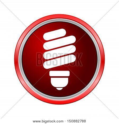 Energy saving bulb icon, Internet button on white background