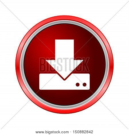 HDD icon, Internet button on white background