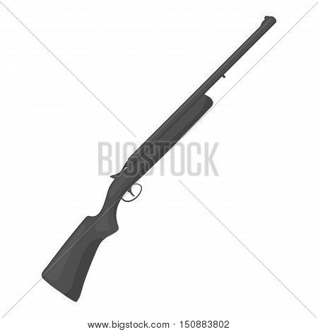 Hunting rifle icon in monochrome style isolated on white background. Hunting symbol vector illustration.