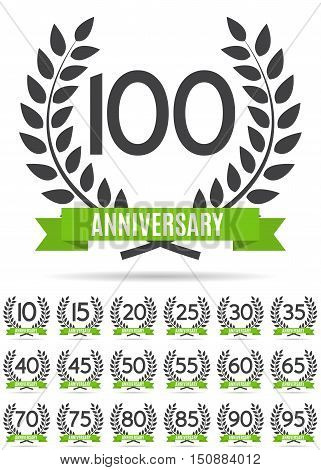 Big Collection Set of Template Logo Anniversary Vector Illustration EPS10