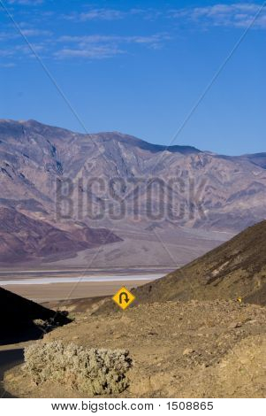 View of the salt flats and the
