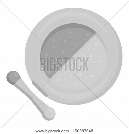 Face powder icon in monochrome style isolated on white background. Make up symbol vector illustration.