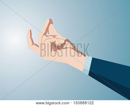 Boss Snapping At Office, The Solution Now And Fast. Concept Business Illustration. Vector Flat