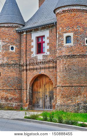 Neufchatel en Bray France - june 23 2016 : the Les Tourelles manor