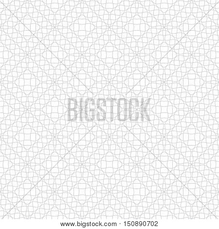 Vector seamless pattern. Abstract linear textured background. Modern geometric texture with intersecting waved lines and rhombuses. Regularly repeating geometrical tiles