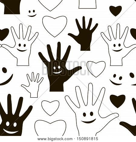 Happy Friendship day pattern. Usable as friendship day greeting cards, posters. Best friends forever.
