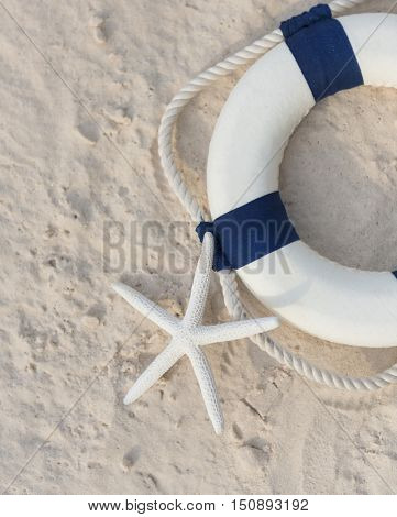 Lifebuoy Swimming Protection Safety ConceptLifebuoy Swimming Protection Emergency Safety Concept