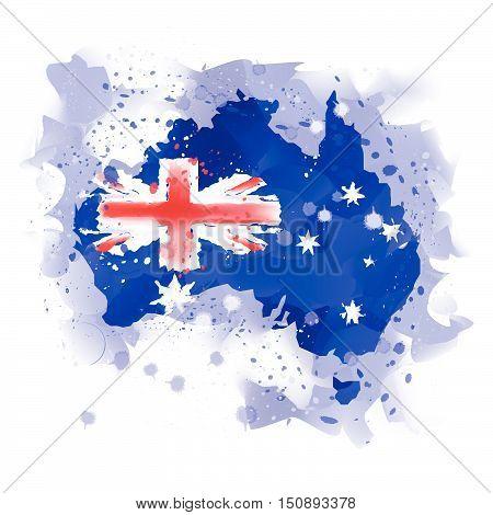 map of australia map concept vector concept
