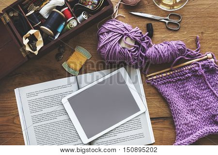 Leisure Activity Knitting Recreational Pursuit Concept