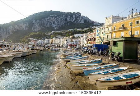 Marina Grande on Capri Island, Campania, Italy