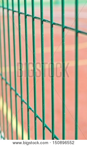 ndustrial fencing made of heavy duty metal wire