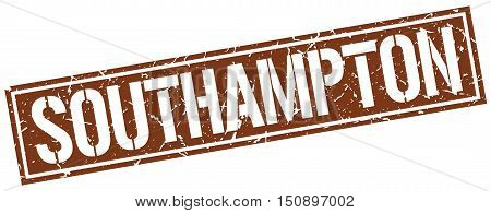 Southampton. stamp. square grunge vintage isolated sign