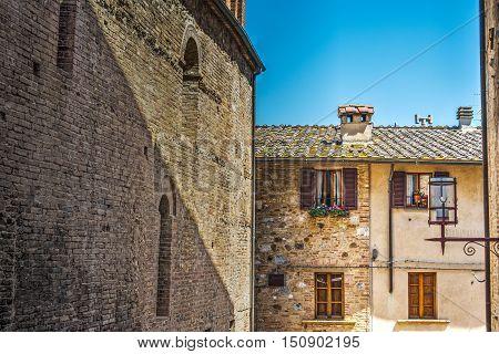 a rustic corner in San Gimignano Italy