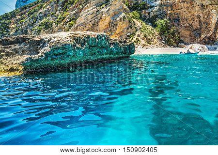 Cala Mariolu seen from the water Sardinia