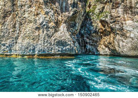 a blue sea in Orosei gulf Sardinia