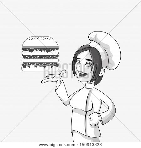 happy chef or cook icon image vector illustration design