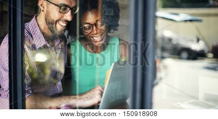 African Descent Correspondence Talking Strategy Concept