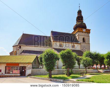 Village in Slovakia Stitnik at a day