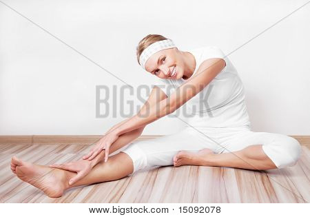 Woman Stretching The Muscles