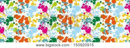 Colored blots on the white background seamless pattern Blue Spot Green Stain Pink Smudge Orange Blot Yellow Smear Dab and blotch seamless wallpaper Blur