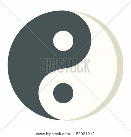 Yin yang icon isolated on white background stylish vector illustration web design. Tao culture meditation yin yang symbol harmony balance zen sign. Abstract karma spiritual yin yang symbol.