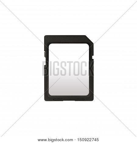 SD memory card isolated on white background