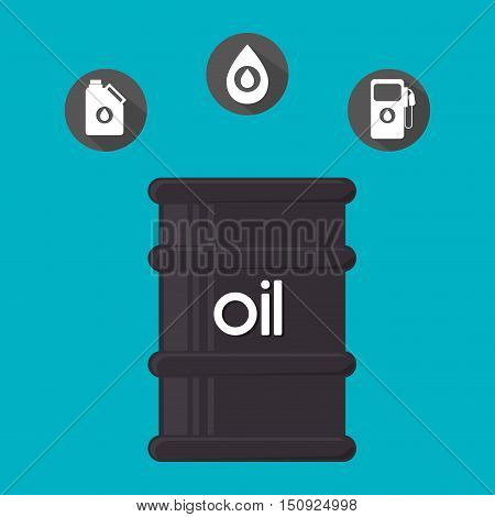 oil can and petroleum price icon set. colorful design. vector illustration