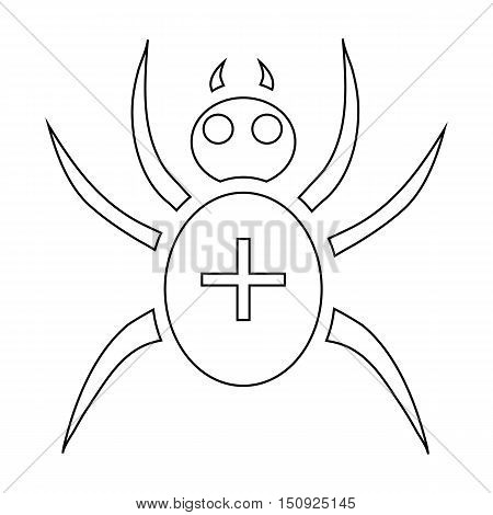 Spider icon. Outline illustration of spider vector icon for web design