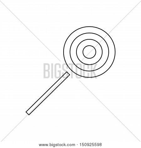 Halloween lollipop icon. Outline illustration of lollipop vector icon for web design