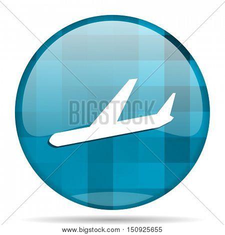 arrivals blue round modern design internet icon on white background