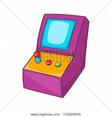 Slot machine icon. Cartoon illustration of slot machine vector icon for web design