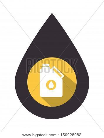 oil drop with gallon over yellow circle. petroleum industry design. vector illustration