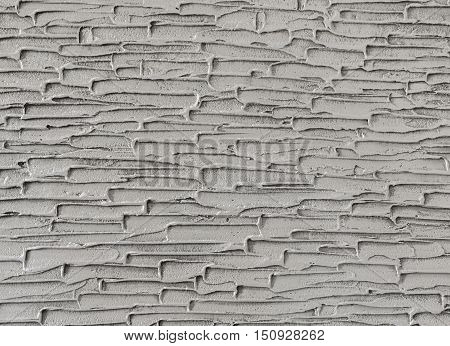 Gray Plastered Concrete Wall Background Texture Detail