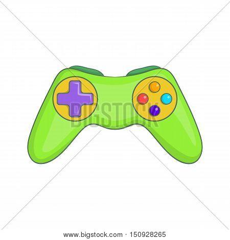 Game controller icon. Cartoon illustration of controller vector icon for web design