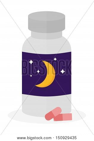 Sleep time icon flat isolated vector illustration. Sleep icon sweat dream. Night rest human sleep icon