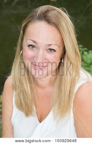 Portrait Of Beautiful Middle Aged Blond Woman