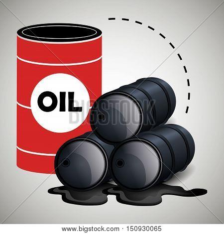 oil cans. petroleum industry design. vector illustration