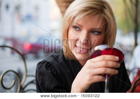 Young Woman With A Dessert