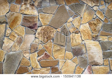 rough stone wall of rough stone background texture