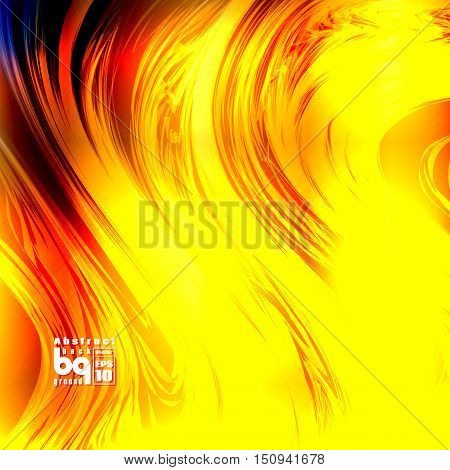 Vector illustrationfire space glitch background flash abstract galaxy sun