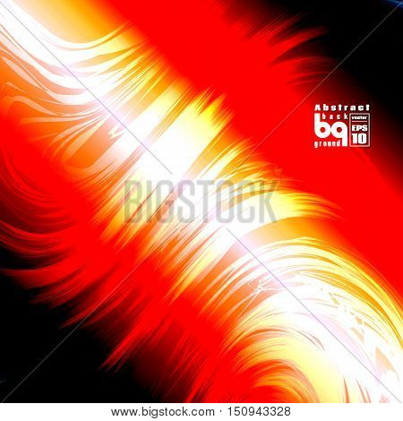 Vector illustrationfire space glitch background flash abstract galaxy