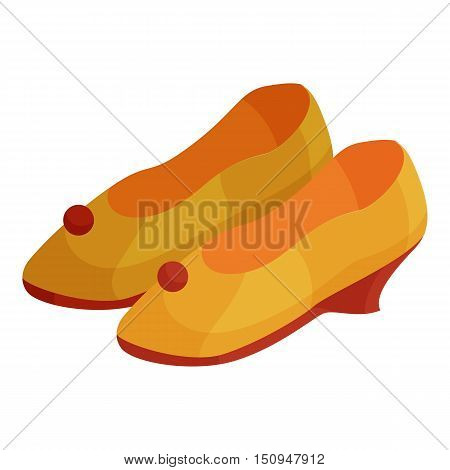 Woman shoes icon. Cartoon illustration of woman shoes vector icon for web.
