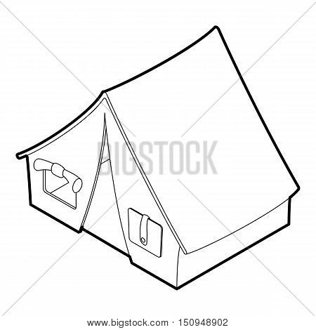 Tent icon. Outline isometric illustration of tent vector icon for web.